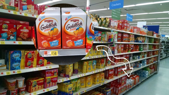 Goldfish crackers at Walmart