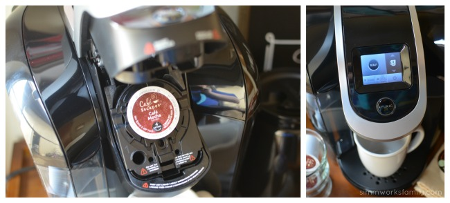 Keurig 2.0 brewer and Cafe Mocha K-Cup packs
