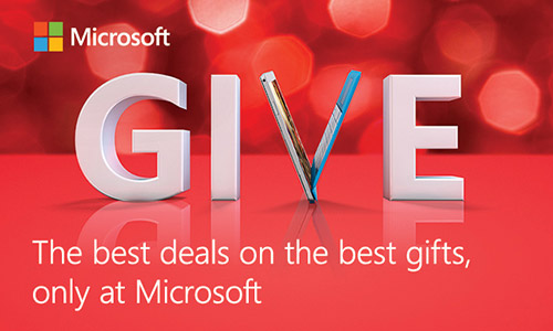 Microsoft Give - the Best Deals only at Microsoft