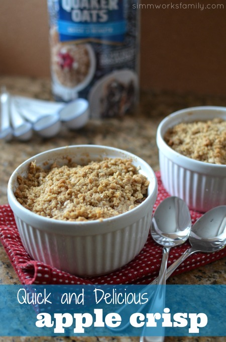 Oatmeal Recipes Quick and Delicious Apple Crisp