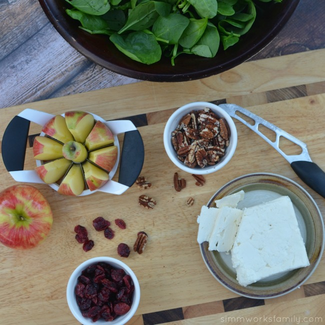 Quick And Easy Meal Apple Feta Walnut Salad Recipe ingredients