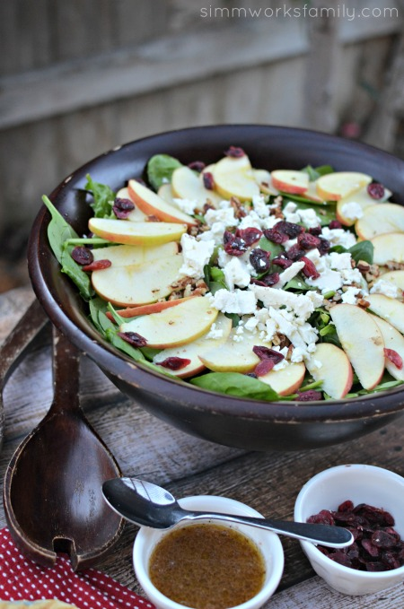 Quick And Easy Meal Apple Feta Walnut Salad Recipe