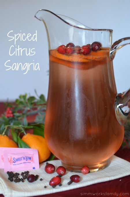 Spiced Citrus Sangria Drink Recipe - the perfect recipe to celebrate the new year! #sweetnlowstars