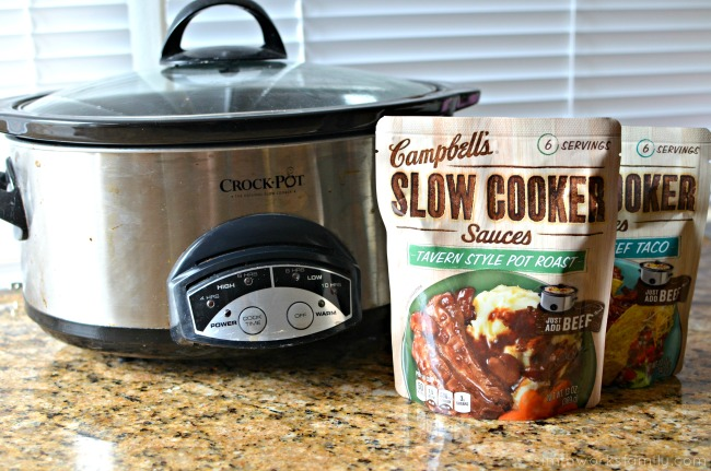 Easy Dinner Slow Cooker Freezer Meals - Campbell's Slow Cooker Sauces