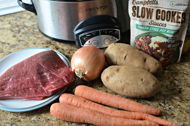 Easy Dinner Slow Cooker Freezer Meals - meat and veggies
