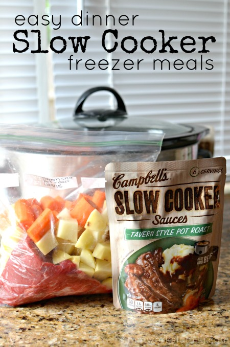 Easy Dinner Slow Cooker Freezer Meals