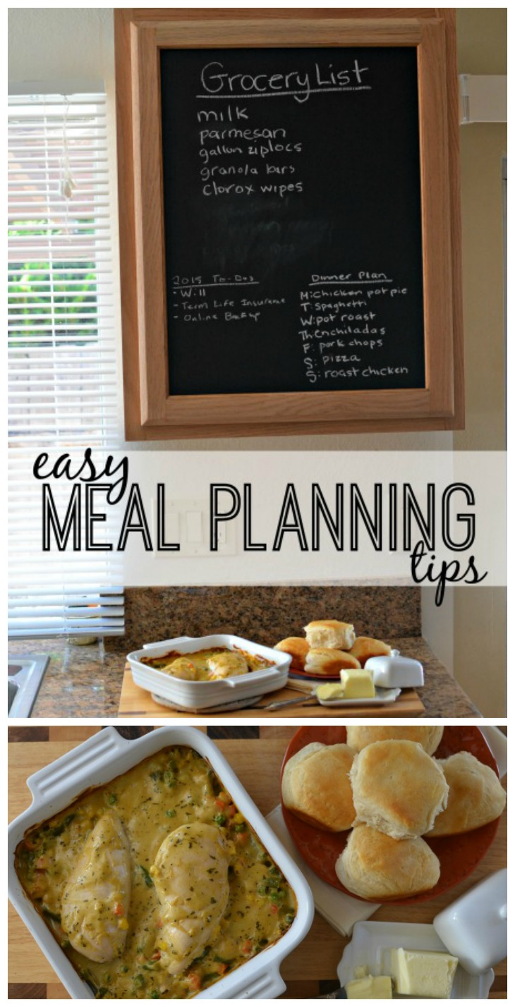 Looking for easy meal planning tips and ideas for busy weeknights? We're sharing a few of our favorites + this delicious deconstructed chicken pot pie recipe!