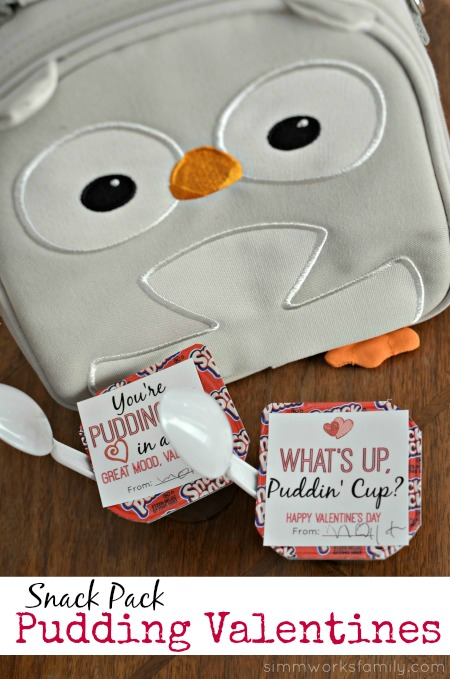 Snack Pack Pudding Valentine Printables