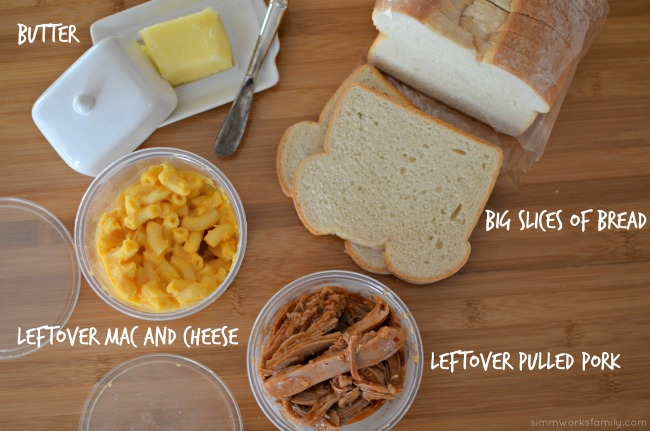Grilled Pulled Pork and Mac and Cheese Sandwich Recipe ingredients #CampbellsSauces