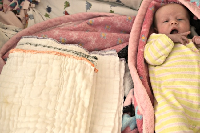 Why I Love Prefolds For Newborns - different sizes