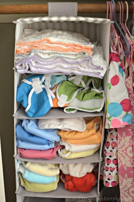Why I Love Prefolds For Newborns - newborn stash