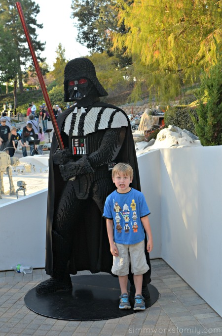5 Reasons Why Star Wars Lovers Should Visit Legoland California - Darth Vader in LEGO