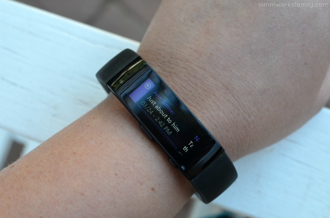 Creating a Workout Routine Post Baby - text messages with the Microsoft Band