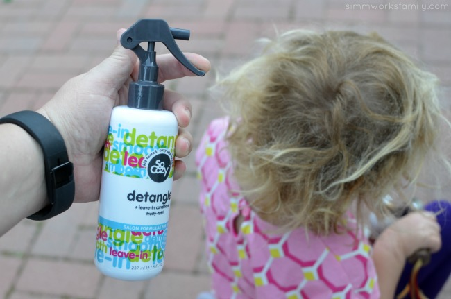 Curly Hair Tips for Kids - get a good leave in conditioner and detangler