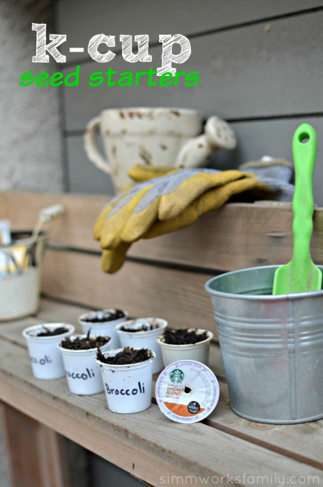 K-Cup Seed Starters - recycling in the garden