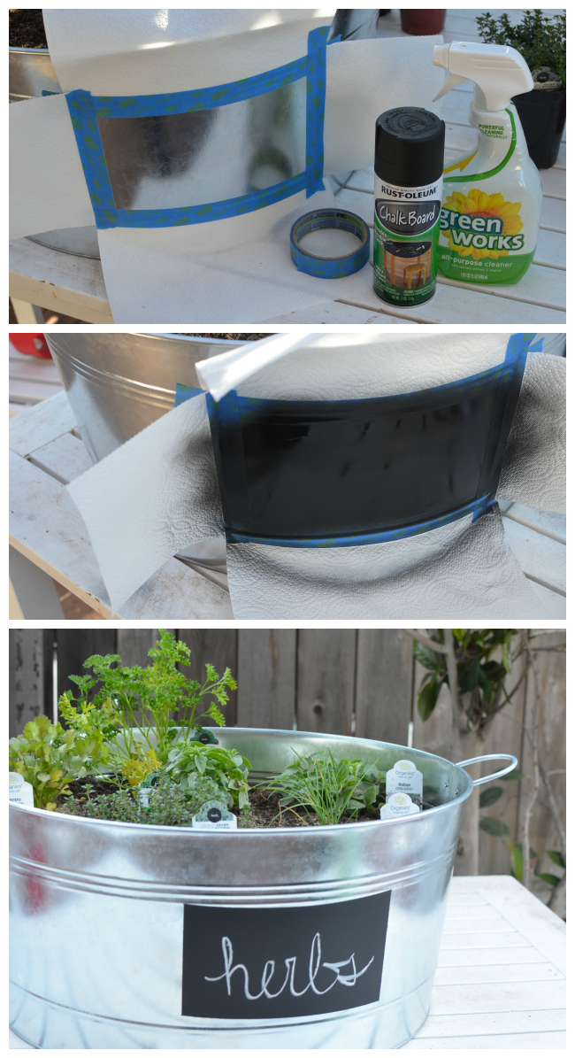 Upcycled Container Gardens - DIY Chalkboard Label