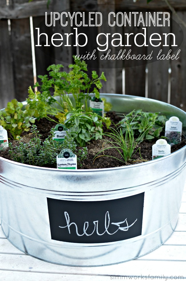 Upcycled Container Gardens Housing Your Herbs
