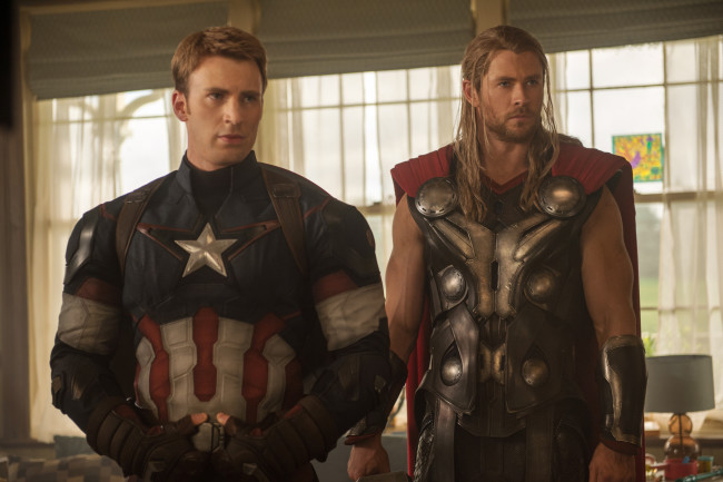Avengers Age Of Ultron Thor and Captain America