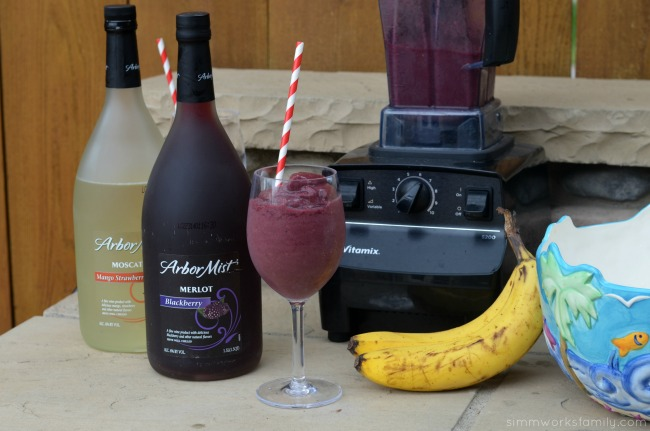 Boozy Smoothies with Blackberry Arbor Mist