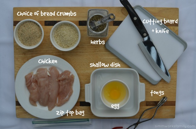 Homemade chicken nuggets ingredients
