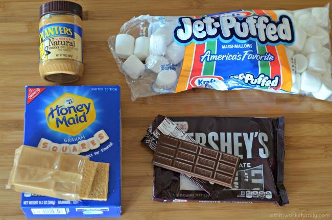 Peanut-Butter-Fudge-Smores-Mug-Cake-ingredients-in-packaging