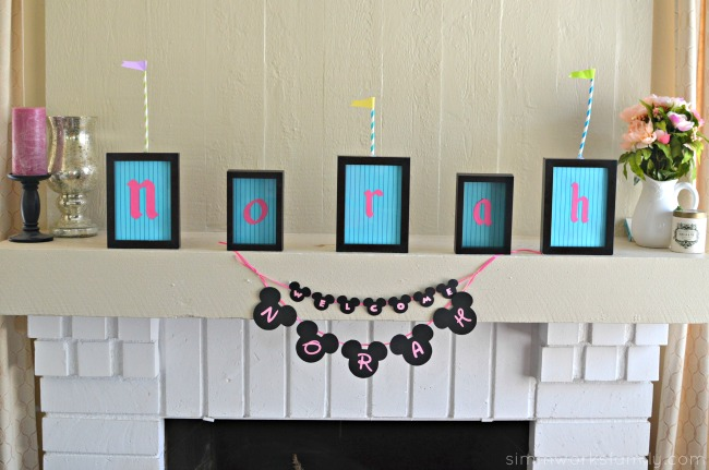 Disney Baby Shower Games - Name Signs