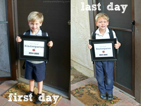 First and Last Day of Kindergarten