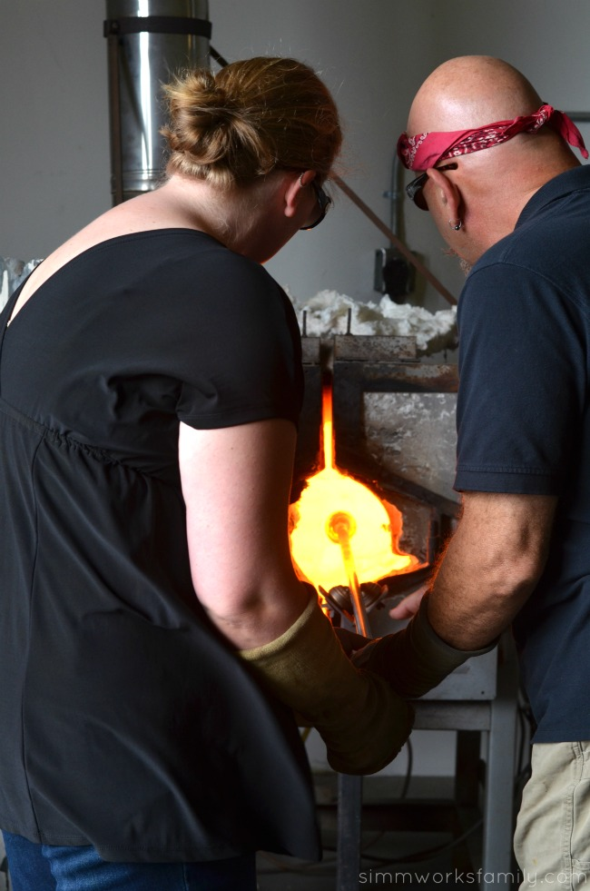 Stone & Glass making a heart