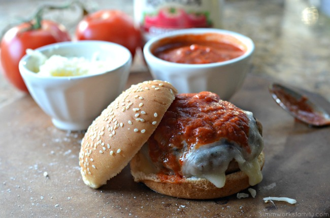 Stuffed Chicken Parmesan Burgers
