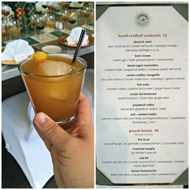 Vessel Restaurant Cocktails