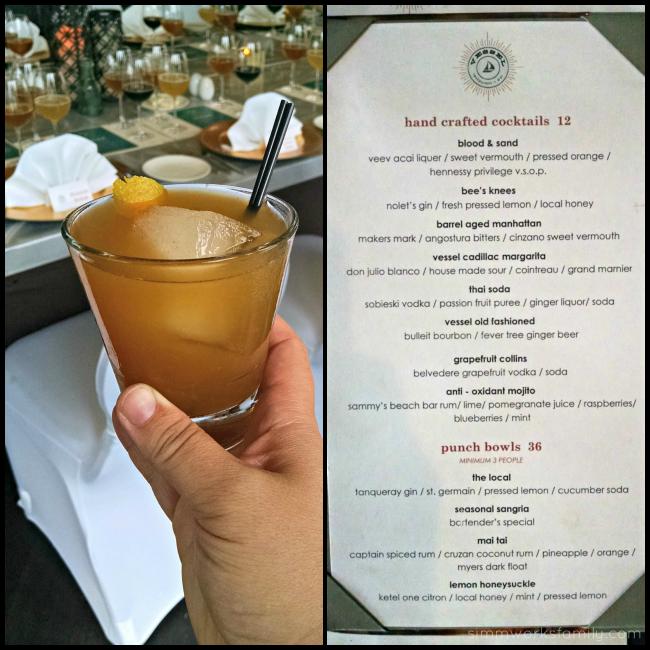 Vessel Restaurant Cocktails