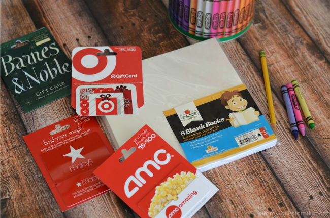 end of year teacher gifts - gift cards for the book