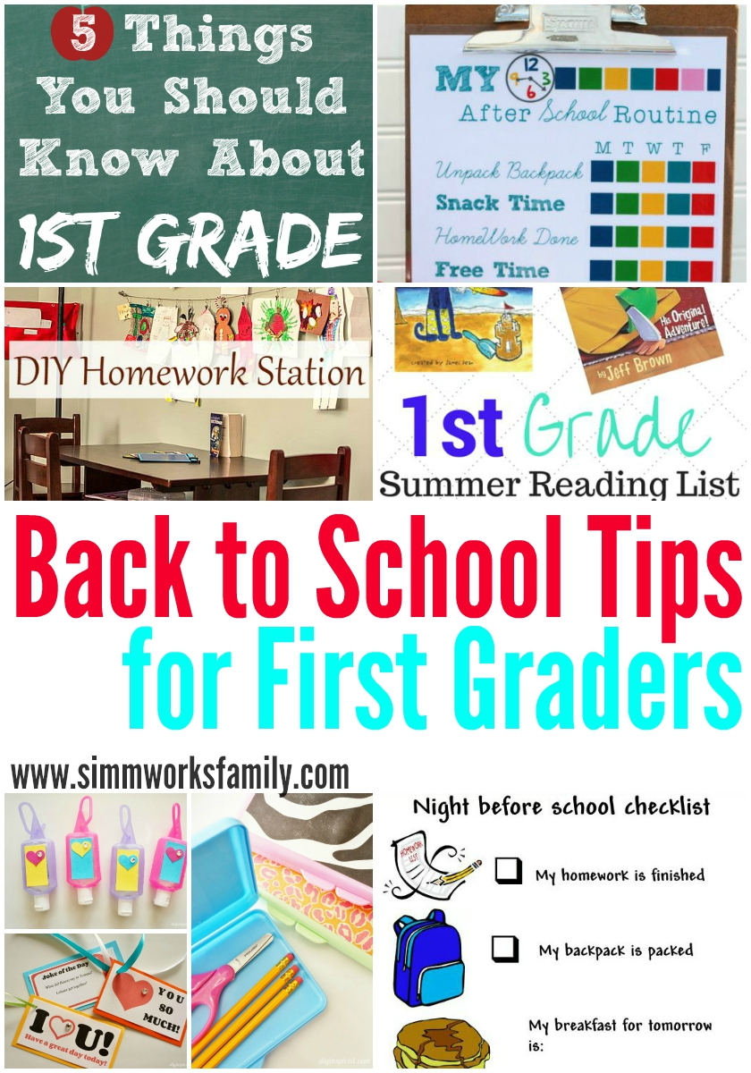 Back to School Tips for First Graders, first day of first grade prep