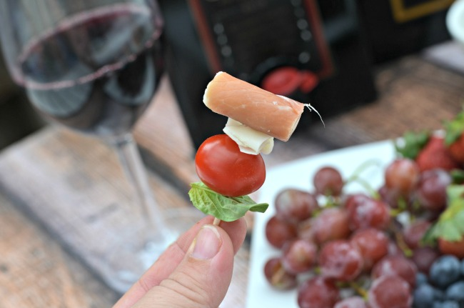 Caprese Cheese Platter On A Stick