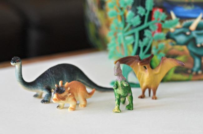 DIY 3-D Dinosaur Wall Art - dinosaur toys