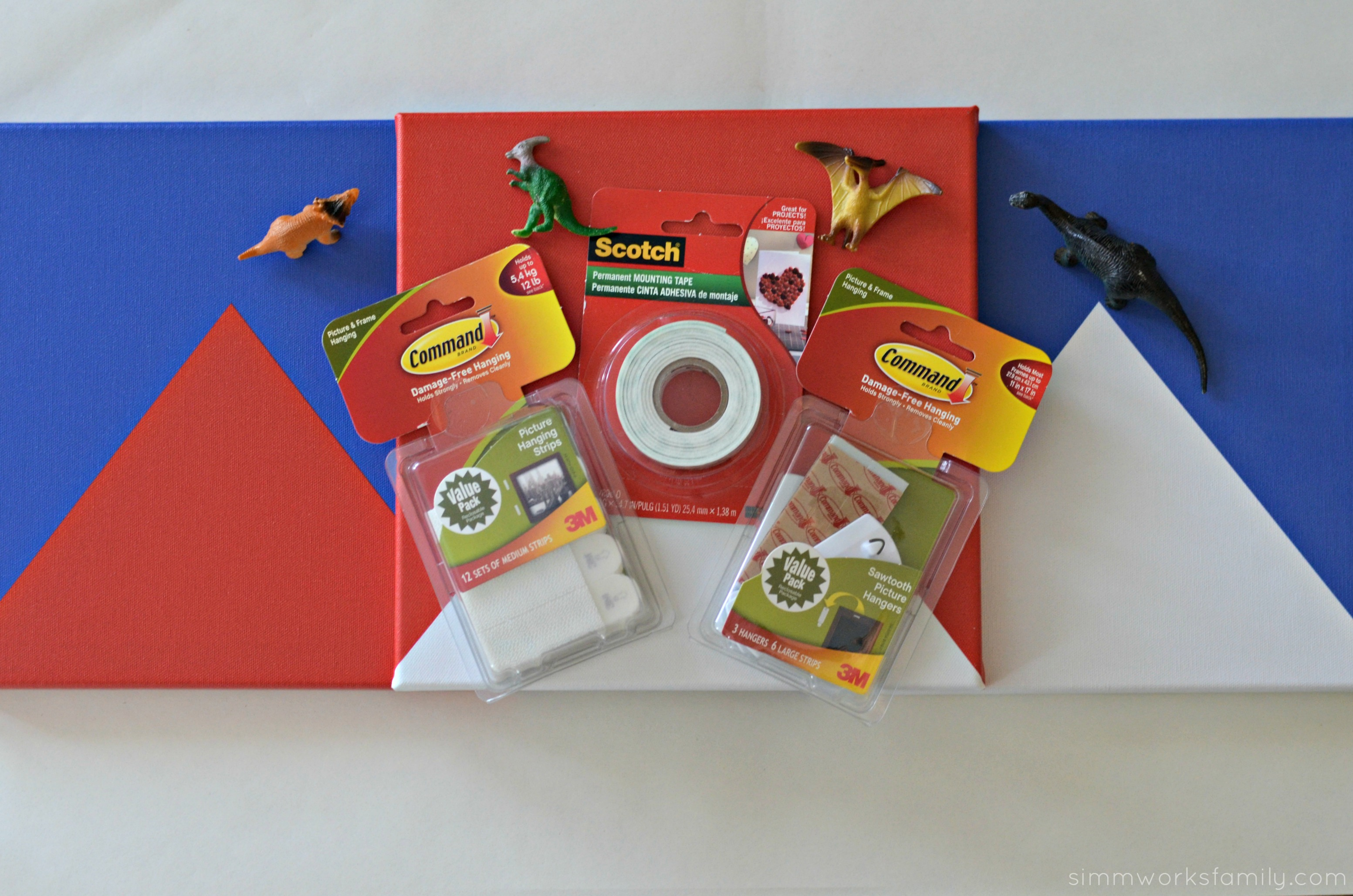 DIY 3-D Dinosaur Wall Art - supplies needed