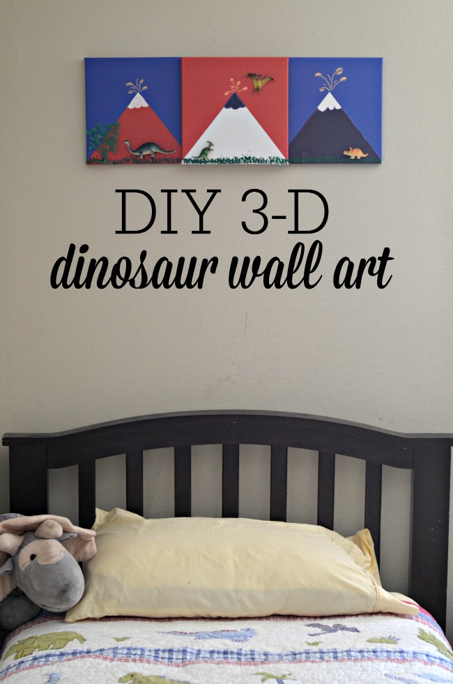 DIY 3-D Dinosaur Wall Art