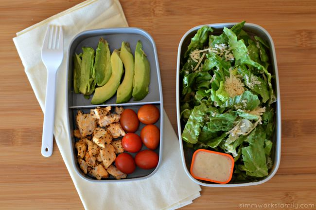 Easy Lunch Ideas for Busy Moms - chicken ceaser salad
