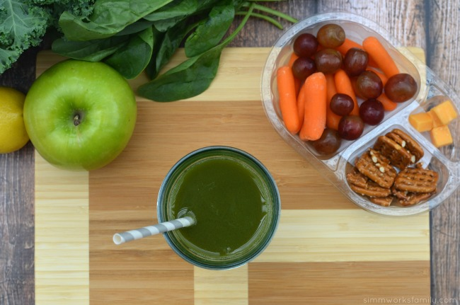 Easy Snack Ideas plus Green Juice Recipes with spinach and kale