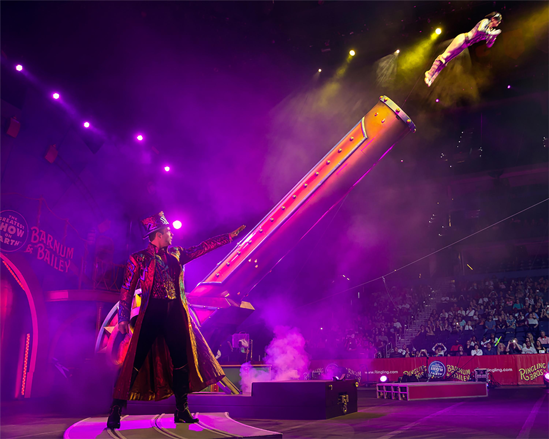 Ringling Bros Circus Xtreme Human Cannonball