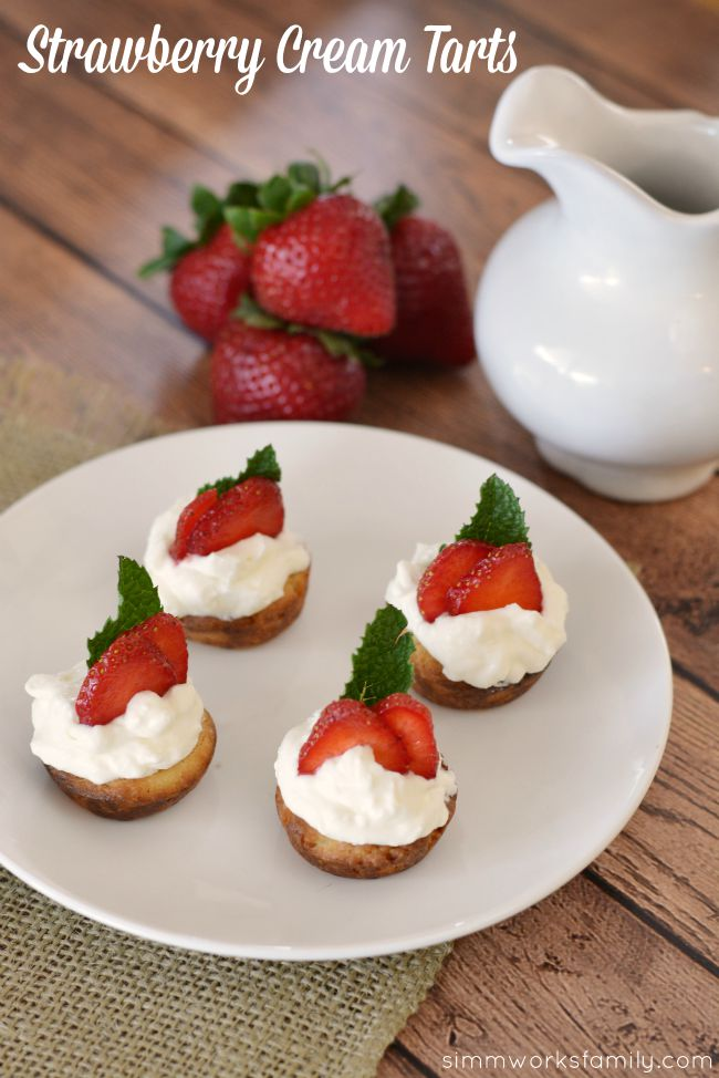 Strawberry Cream Tarts - delicious and full of flavor