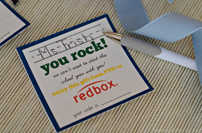 Back to School Teacher Appreciation Gifts + a Tutorial - Redbox codes