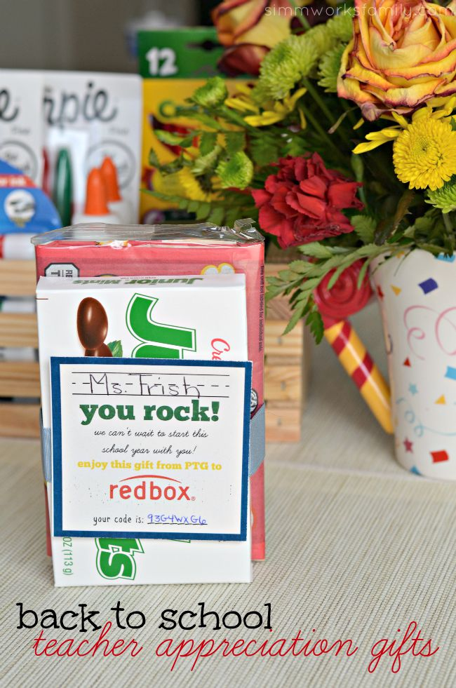 picture regarding Redbox Teacher Appreciation Printable named Again toward College Instructor Appreciation Items + a Guide - A