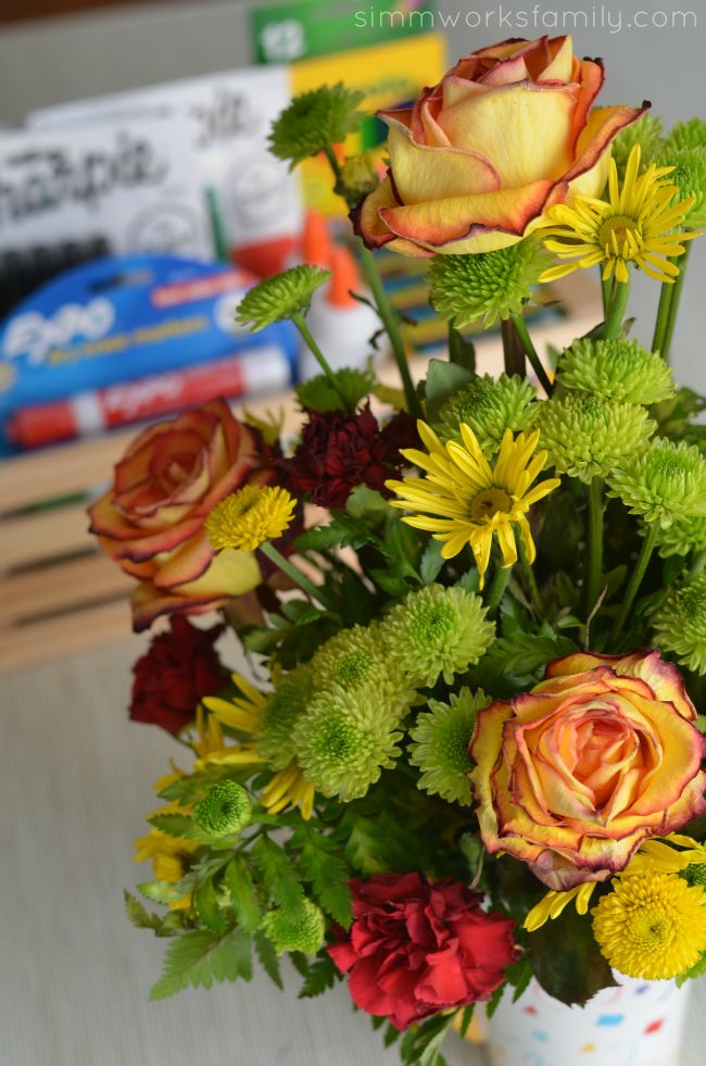 Back to School Teacher Appreciation Gifts - flowers