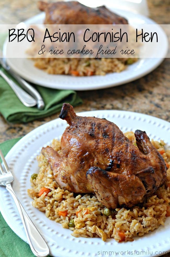 Date Night At Home BBQ Asian Cornish Game Hens + Rice Cooker Fried Rice
