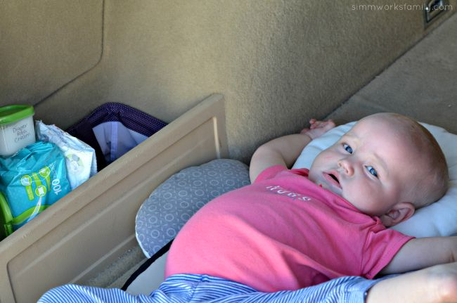 Diaper Changing Station On The Go in the car