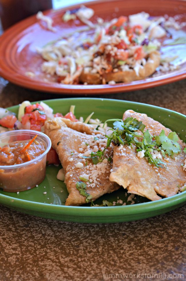 Cafe Coyote Old Town - Zucchini Flower Stuffed Empanadas