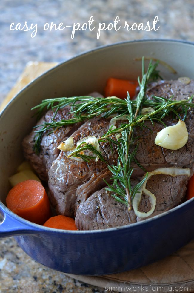 Easy One-Pot Pot Roast - a simple meal with delicious results