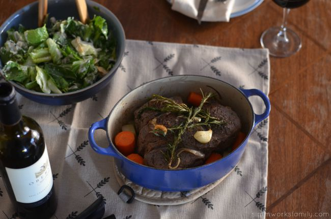 Easy One-Pot Pot Roast - the perfect Sunday dinner on Wednesday