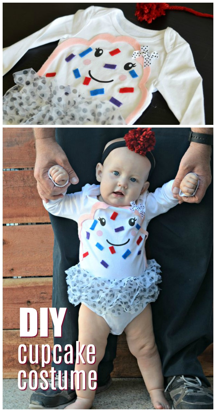 Looking for a cute costume for your baby? This DIY cupcake costume is a no-sew option that is absolutely perfect for baby.